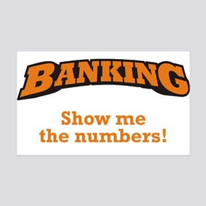 Banking / Numbers 38.5 x 24.5 Wall Peel