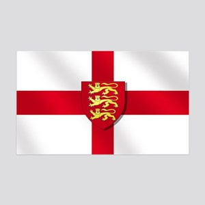 England Three Lions Flag 35x21 Wall Decal