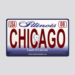 Chicago License Plate 35x21 Wall Peel