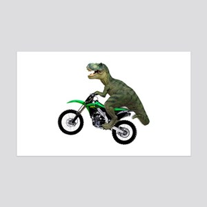 Dirt Bike Wheelie T Rex 35x21 Wall Decal