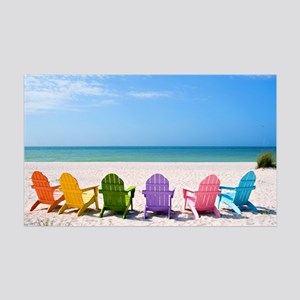Summer Beach 35x21 Wall Decal
