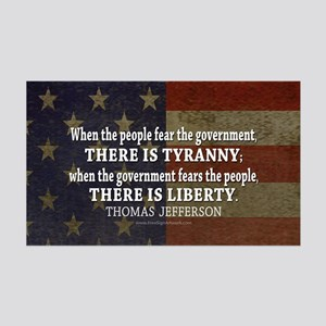 Jefferson Quote Liberty 35x21 Wall Decal