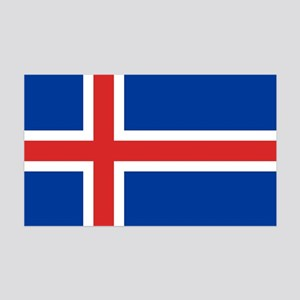Flag of Iceland 35x21 Wall Decal