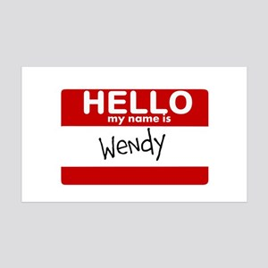 Hello My Name Is Wendy Wall Decal