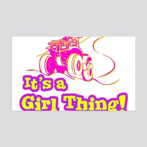 4x4 Girl Thing 35x21 Wall Decal