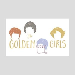 Golden Girls Minimalist 35x21 Wall Decal