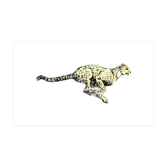 Vintage Running Cheetah