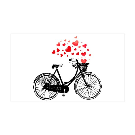 Vintage Bike with Hearts