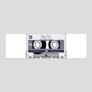 Cassette Tape - Grey 20x6 Wall Decal