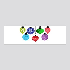 Christmas Ornaments 20x6 Wall Decal