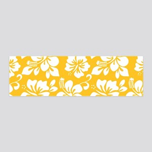 Yellow Hawaiian Hibiscus Wall Decal
