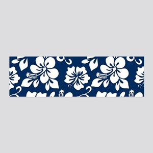 Navy Blue Hawaiian Hibiscus Wall Decal