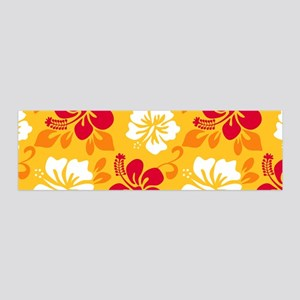 Yellow-red-orange-white Hawaiian Hibiscus Wall Dec