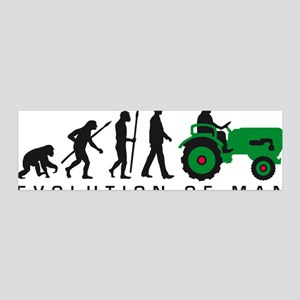 evolution of man farmer with a tra 20x6 Wall Decal