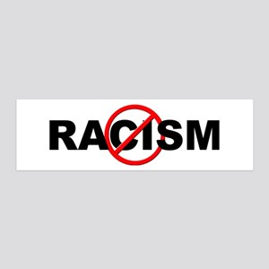 Anti / No Racism 20x6 Wall Decal