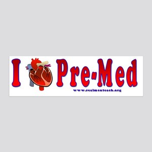 I Love Pre Med 20x6 Wall Decal