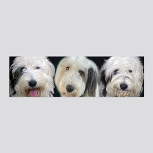 Old English Sheepdog trio 20x6 Wall Decal