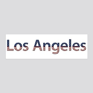 Los Angeles Stars and Stripes 21x7 Wall Peel