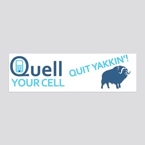 Quell Cell Bumper Sticker 20x6 Wall Decal