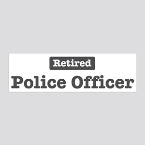Retired Police Officer 20x6 Wall Peel