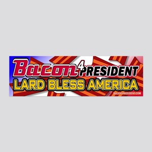 Bacon Lard Bless America 20x6 Wall Decal