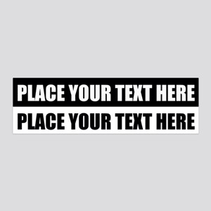 Add text message 20x6 Wall Decal