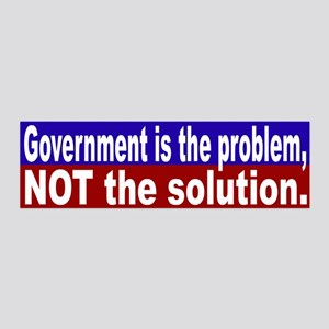 Government is the Problem 20x6 Wall Peel