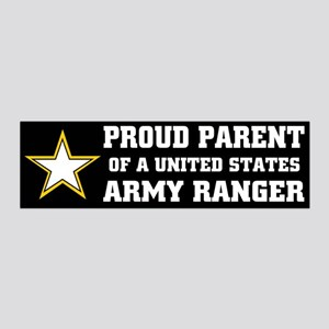 PROUD PARENT - ARMY RANGER 20x6 Wall Peel