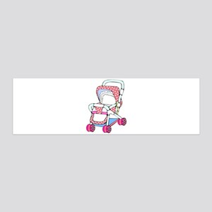 Fancy pink baby stroller graphic Wall Decal