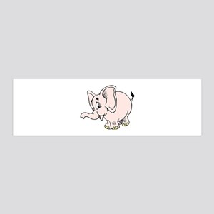 Pink baby elephant graphic Wall Decal
