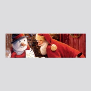 Santa Reading Note Wall Decal