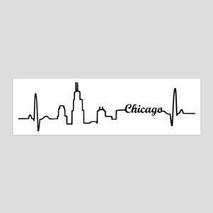 Chicago Heartbeat Letters 20x6 Wall Decal