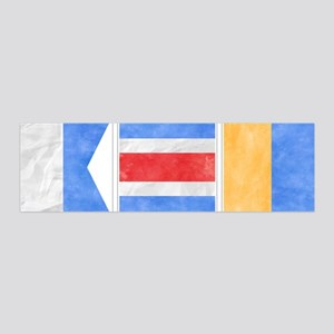 "Nantucket ""ACK"" Signal Flag 20x6 Wall Decal"