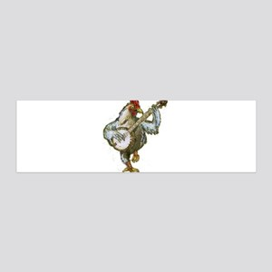 Banjo Chicken Wall Decal