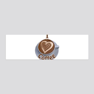 ILoveCoffeeCup 36x11 Wall Decal