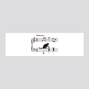 Cat Toying with Note v.2 36x11 Wall Decal