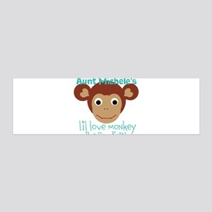 Personalize Love monkey Wall Decal
