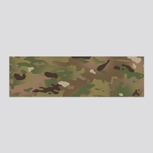 Military Camouflage Pattern 36x11 Wall Decal