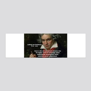 Classical Music: Beethoven 36x11 Wall Peel