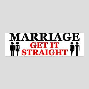 """Marriage: Get It Straight!"" 36x11 Wall Peel"