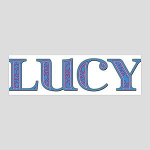 Lucy Blue Glass 42x14 Wall Peel