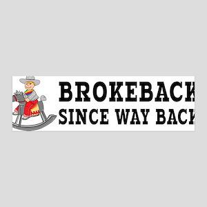 Brokeback Since Way Back 36x11 Wall Peel