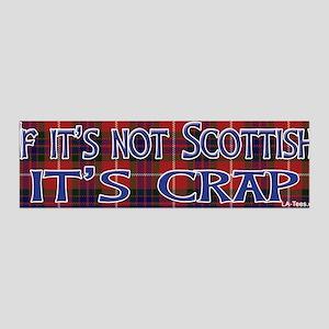 Not Scottish It's Crap #4 36x11 Wall Peel