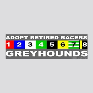 Adopt Greyhounds 36x11 Wall Peel