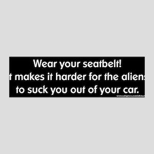 Wear Your Seatbelt Aliens 36x11 Wall Peel