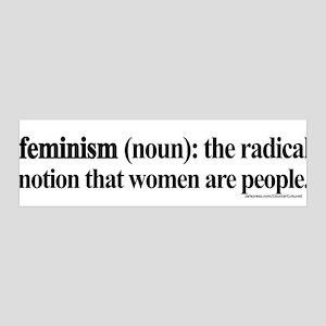 Feminism Defined 36x11 Wall Peel