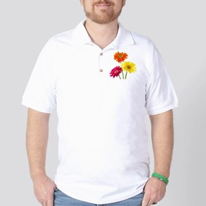 Daisy Gerbera Flowers Golf Shirt