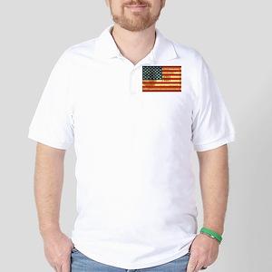 Flag with Hundred Dollar Bill Golf Shirt