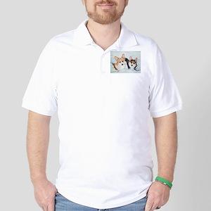 Corgi Snow Dogs Golf Shirt