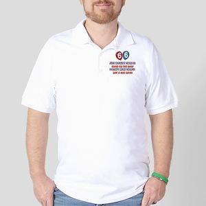 66 year old designs Golf Shirt